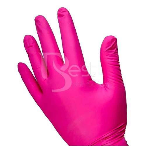 Manusi nitril roz cu colagen, S & M